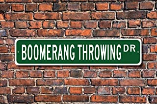 CELYCASY Panneau de Lancer Boomerang Boomerang Throwing Boomerang Gifts Gifts Panneau en métal de qualité