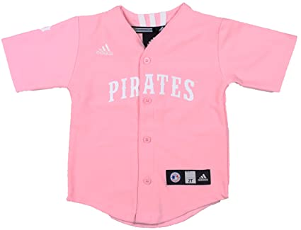 59bc4fe4 Amazon.com : adidas MLB Pittsburgh Pirates Pink Girls Jersey ...