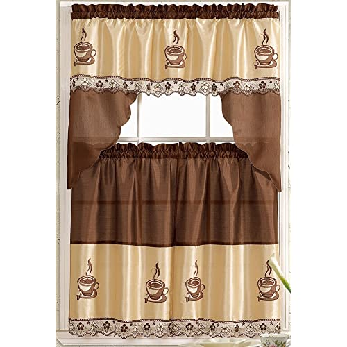 Kitchen Curtains From Amazon: Kitchen Coffee Curtains: Amazon.com
