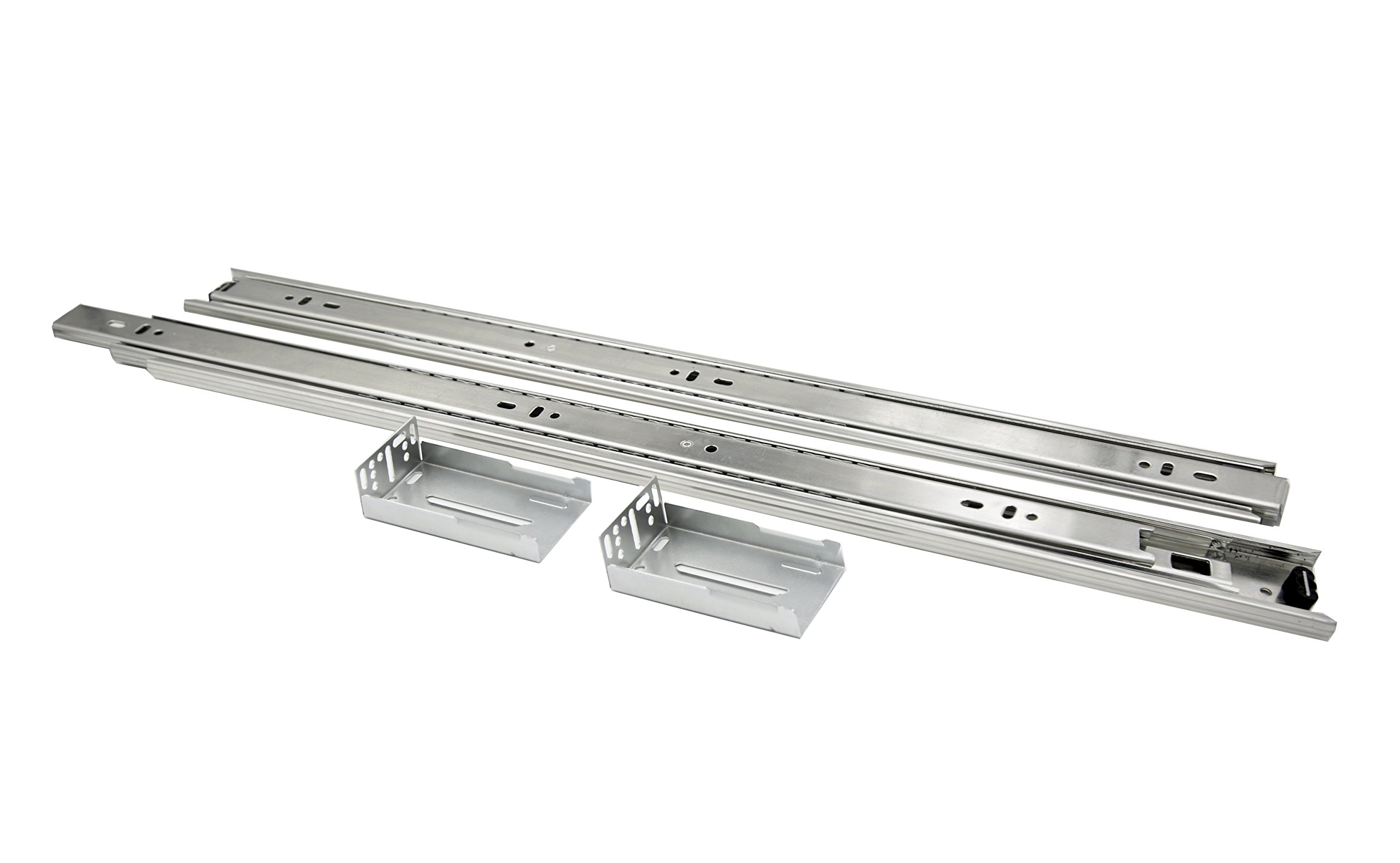 Comet Pro Hardware S5 16 Inch Full Extension Ball Bearing Slides 100 LB Capacity For Kitchen Cabinet Drawer . Rear Mount Brackets and Screws are Included (16 Inch 1 Pair) by Comet Pro Hardware