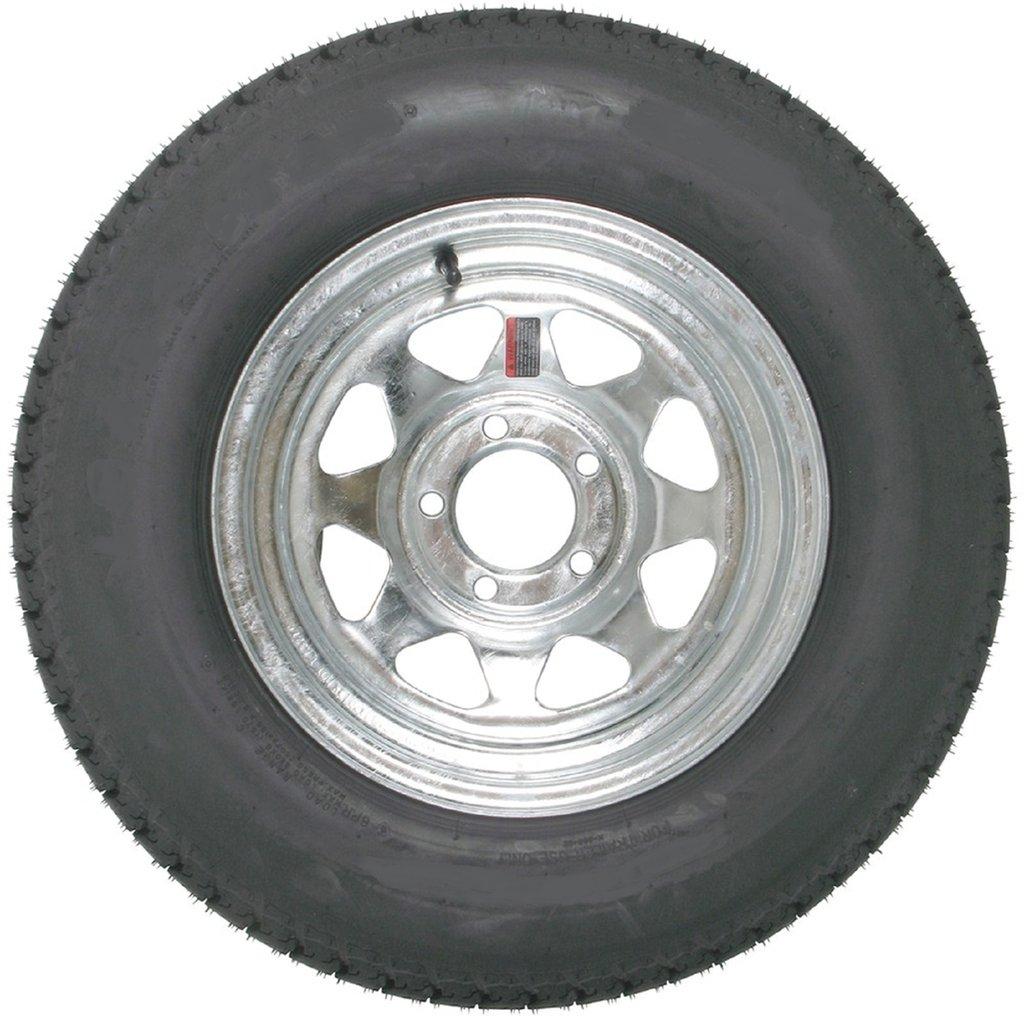 Eco Trailer Tire On Galvanized Rim ST215/75D14 Load C (5 Lug On 4.5'') 14x6 Wheel