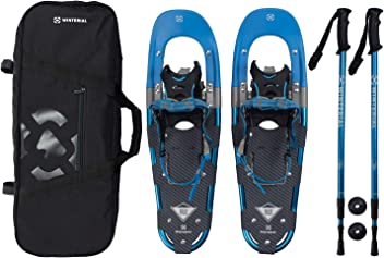 9e1241d68fef Winterial Back Trail Snowshoes 25-Inch Lightweight Aluminum Rolling Terrain  Blue Snow Shoes with Carry