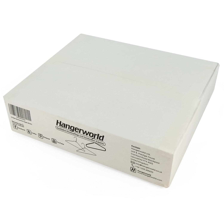 Hangerworld - Perchas De Metal, Acabado Galvanizado Negro, 40.5 cm, 100 Unidades: Amazon.es: Hogar