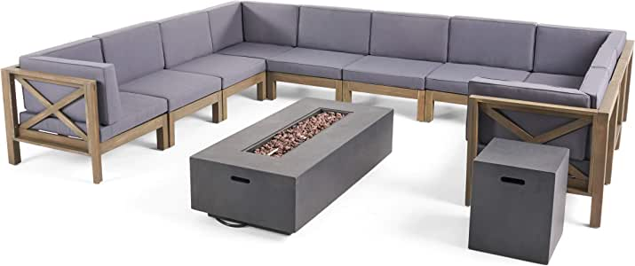 Amazon.com: Great Deal Furniture Cytheria Outdoor Acacia ...