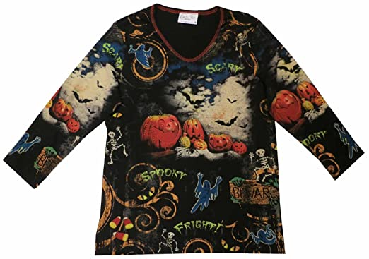 cactus bay haunted house halloween 34 sleeve tee shirt medium