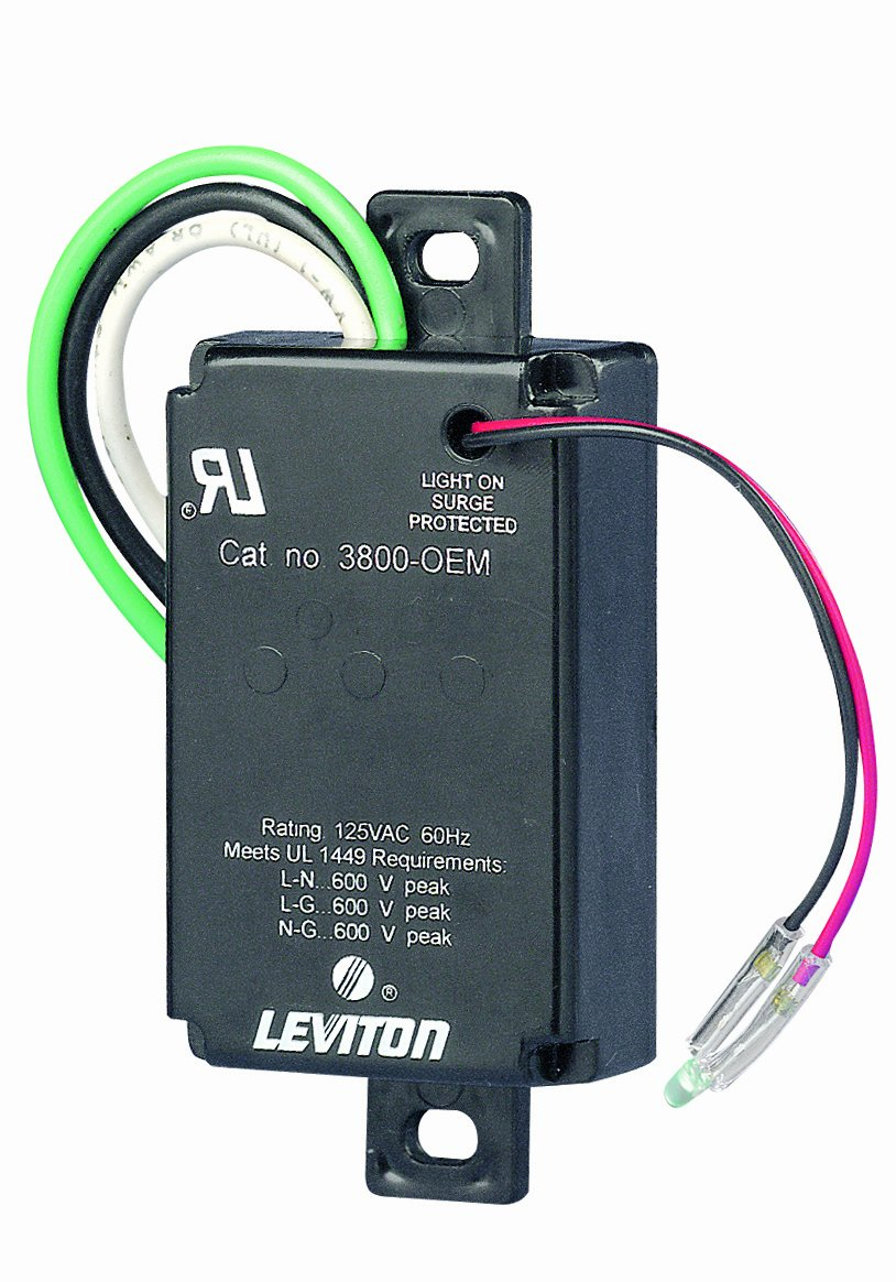 Leviton 3800-OEM 120 Volt AC, 2 Pole, 3 Wire, Equipment Cabinet SPD Surge  Protective Device, Wired-In Module - Wall Dimmer Switches - Amazon.com