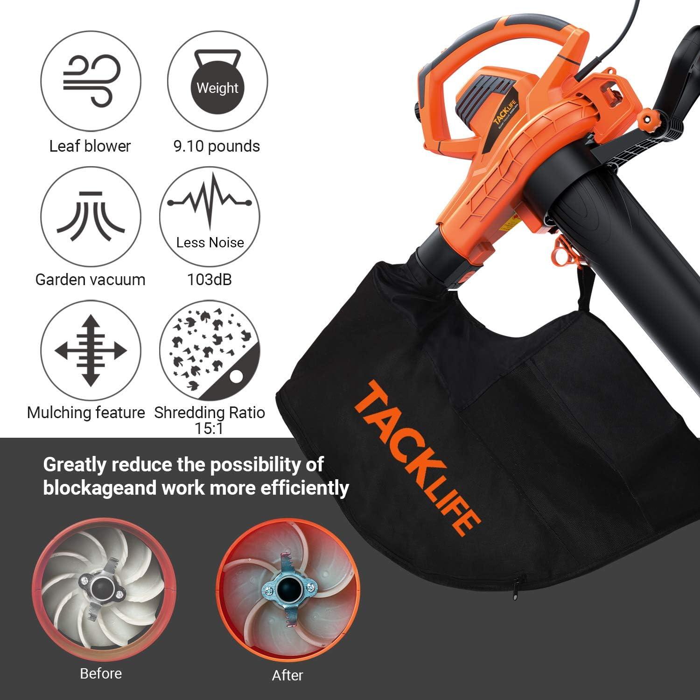 Amazon.com: Tacklife KABV35A - Soplador de hojas 3 en 1 ...