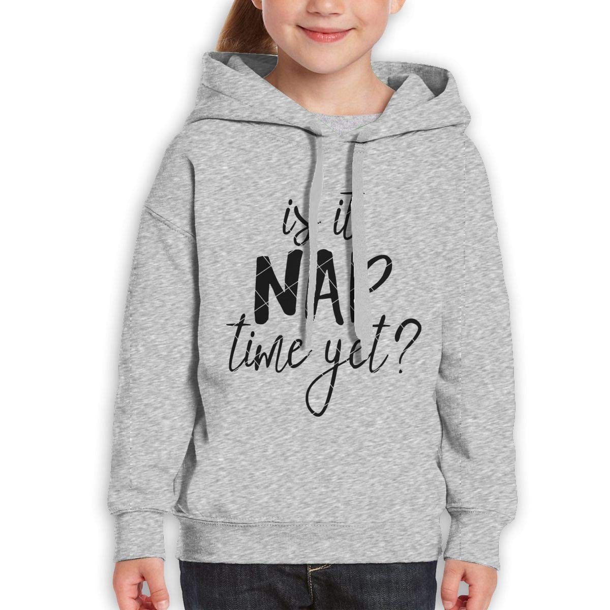 Xxxx Dtjscl Boys Girls is It Nap Time Yet Teen Youth Hoody Gray