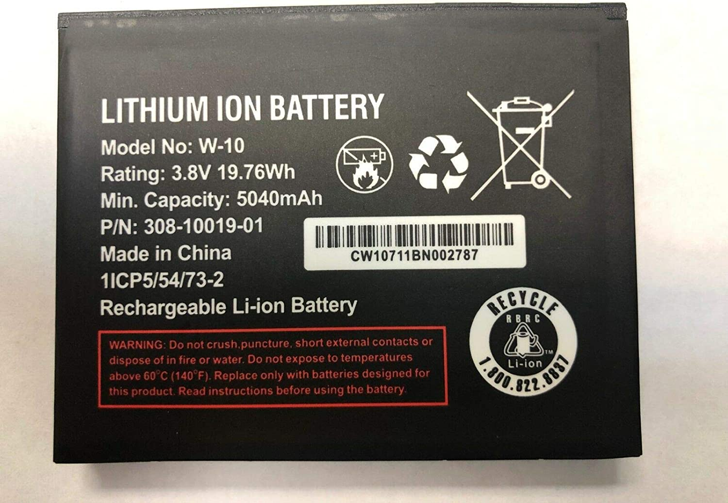 GSParts New Battery for AT/&T Netgear Nighthawk LTE Mobile Hotspot MR1100 W-10A 5040mAh