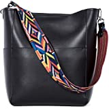BROMEN Women Handbag Designer Vegan Leather Hobo Handbags Shoulder Bucket Crossbody Purse