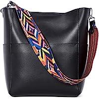 BROMEN Women Handbag Designer Vegan Leather Hobo Handbags Shoulder Bucket Crossbody Purse