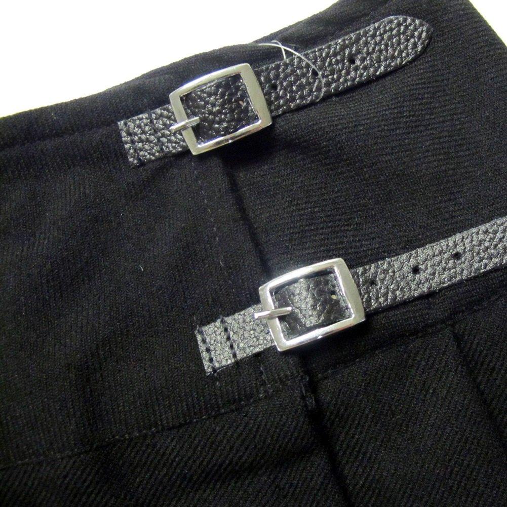 Nero 33 cm Viper London Minigonna Scozzese a Pieghe con Spilla