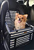 FANCYDELI Puppy Car Seat Upgrade Deluxe Portable Pet Dog Booster Car Seat with Clip-On Safety Leash,Perfect for Small…