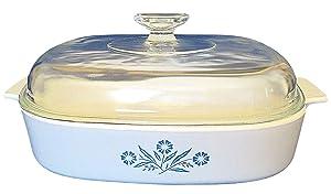 Vintage Corning Ware A-10-B Blue Cornflower Casserole 2.5 Liter - With Lid