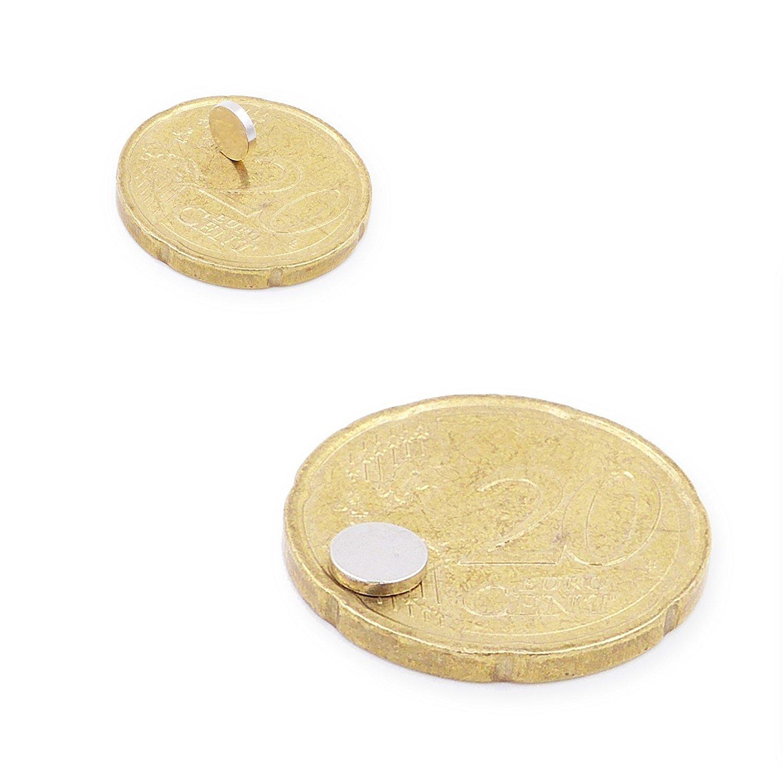 6x1mm Conjunto de 30 Mini Imanes Discos 4x1mm Brudazon Im/án del Poder para la Toma de Modelo Los imanes de neodimio Ultra Fuertes Peque/ño y Extra Fuerte N52 Nivel m/ás Fuerte 5x1mm