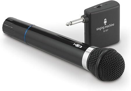 side facing singing machine smm-107 karaoke microphone