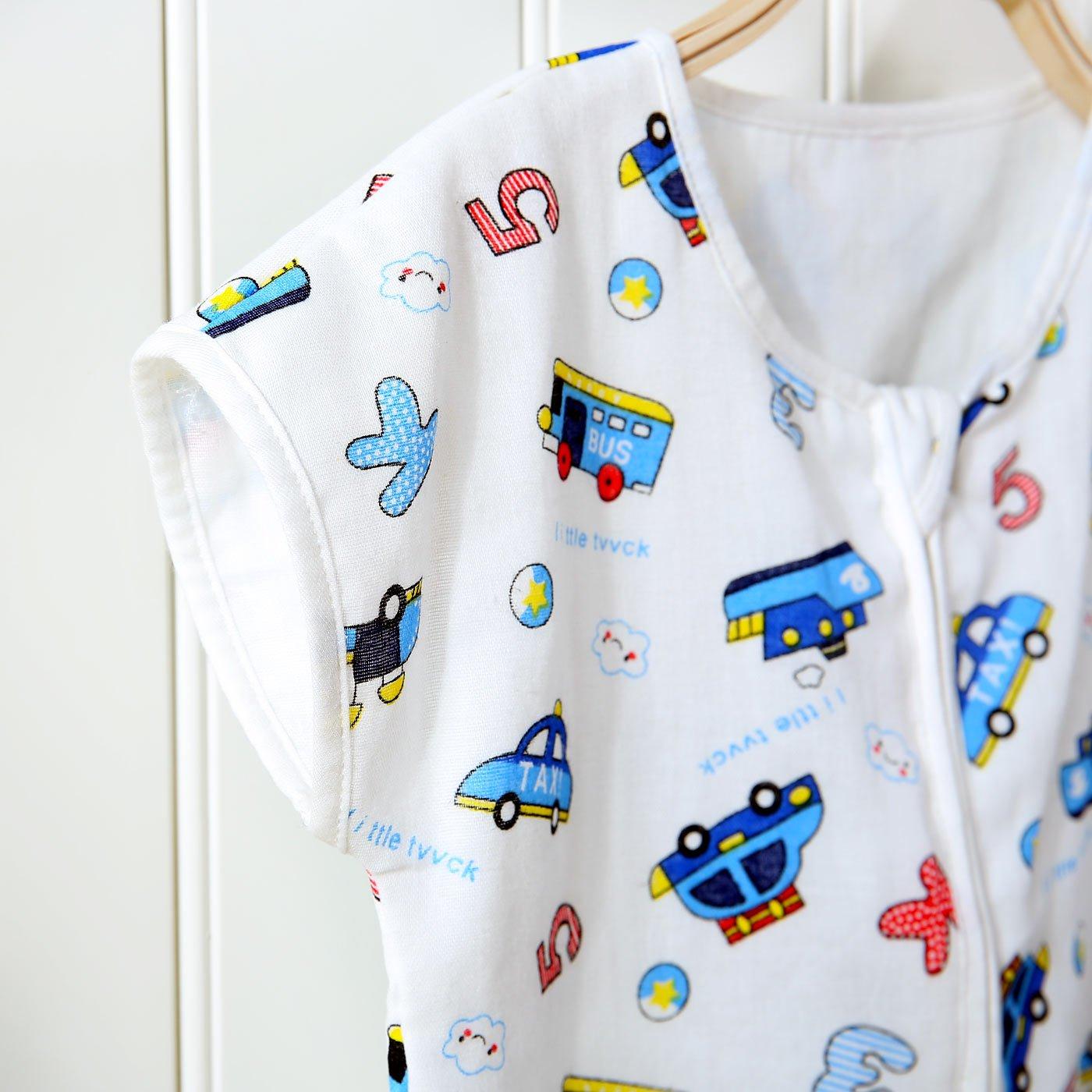 cd93035588af6 FEOYA Gigoteuse à Pied Bébé Manches Courtes Combinaison Fille Garçon  Douillette Coton Pyjama Sac de Couchage Agrandir l'image