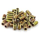 ZRM&E 35pcs 5/16 inch x 25mm Zinc Alloy Threaded