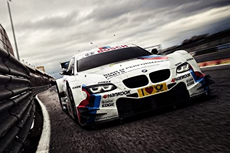 Amazon.com: BMW M5 DTM coche de carreras Cartel 20 x 30 ...