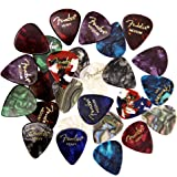 Fender Premium Picks Sampler - 24 Pack Includes Thin, Medium & Heavy Gauges