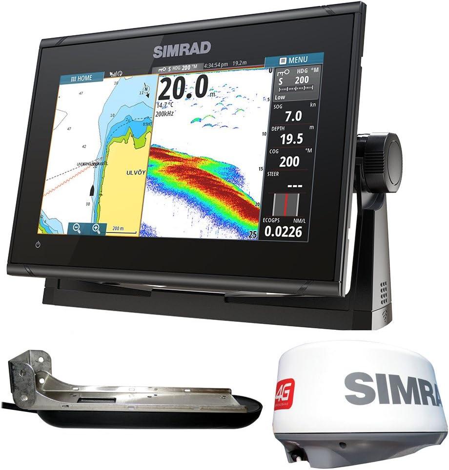 Simrad GO9 XSE Chartplotter/Fishfinder w/TotalScan Transducer & 4G Radar Bundle: Amazon.es: Deportes y aire libre