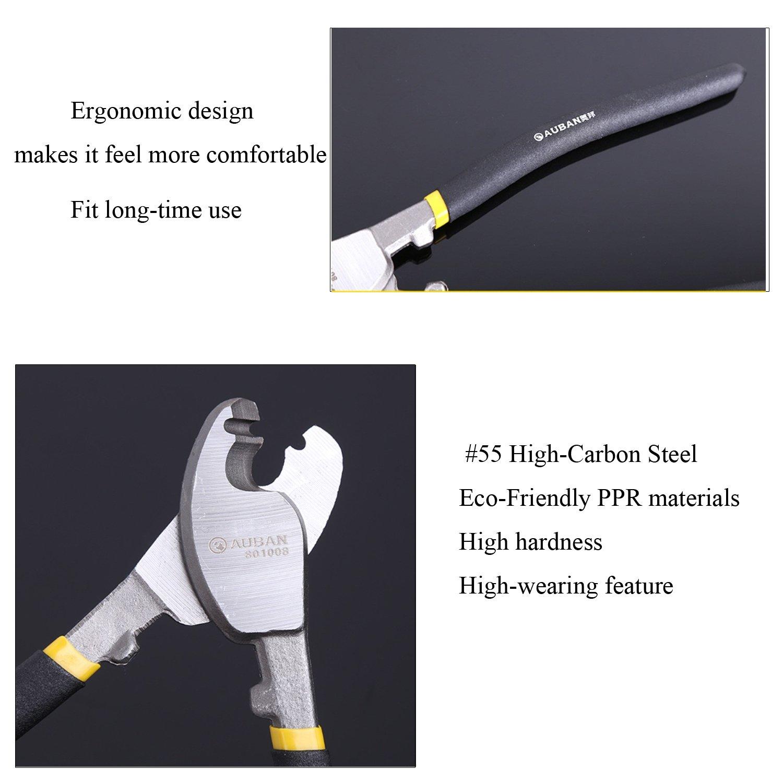 coupe de style am/éricain Outils Auban c/âbles taille avec une grande taille acier au carbone la taille c/âble Eco-Friendly. 1 pcs 8 inch