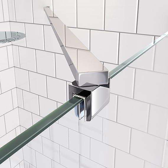 Mampara moderna de cristal para ducha con panel basculante, 900mm: iBathUK: Amazon.es: Hogar