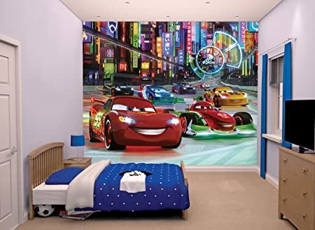 Walltastic Disney Cars Wallpaper Mural: Amazon.co.uk: Kitchen & Home