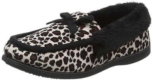 Dunlop DunlopAlaina - Pantofole Donna, Beige (Beige (Leopard)), 37