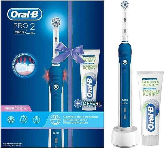 Oral-B Power Pro 2 2800 Cepillo De Dientes Éctrico Accionado + Purificar Pasta De Dientes De Las Encías 530 g: Amazon.es: Salud y cuidado personal