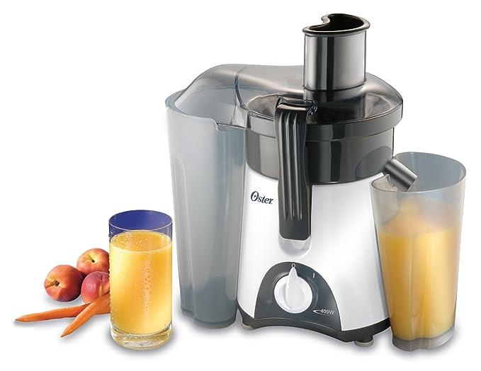 Oster 3157 400-Watt Single-Speed Juice Extractor, White/Grey