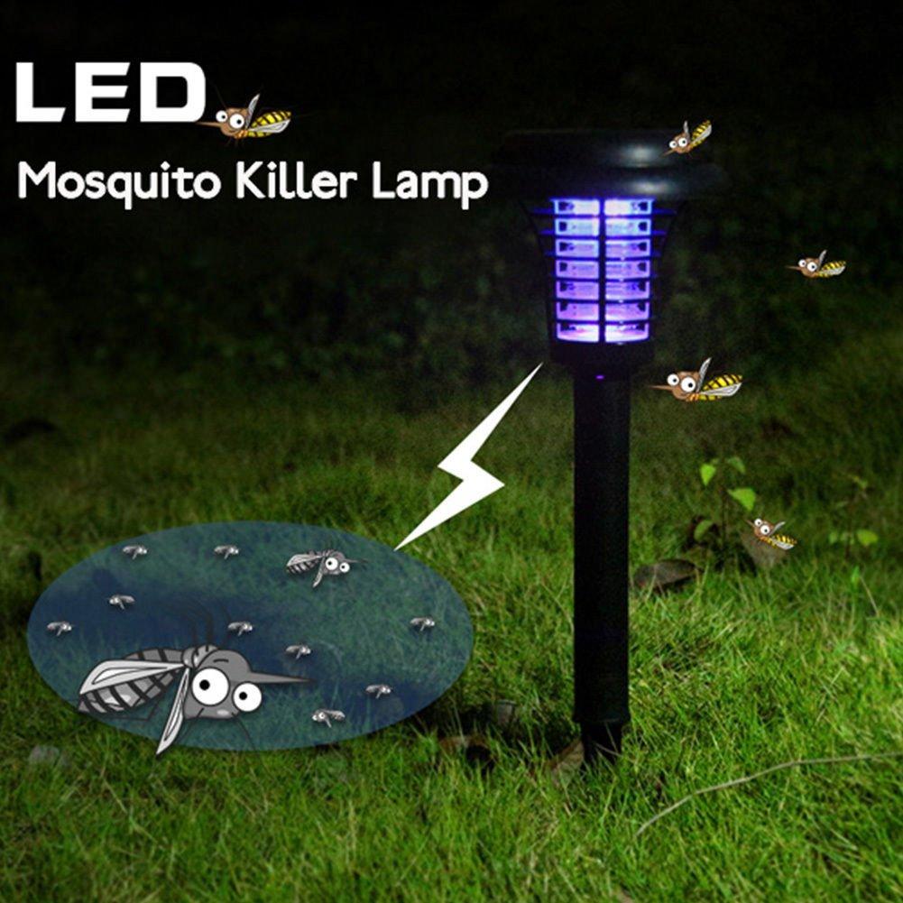 WANGLAI Lámpara solar para jardín o patio con mosquitos para matar ...