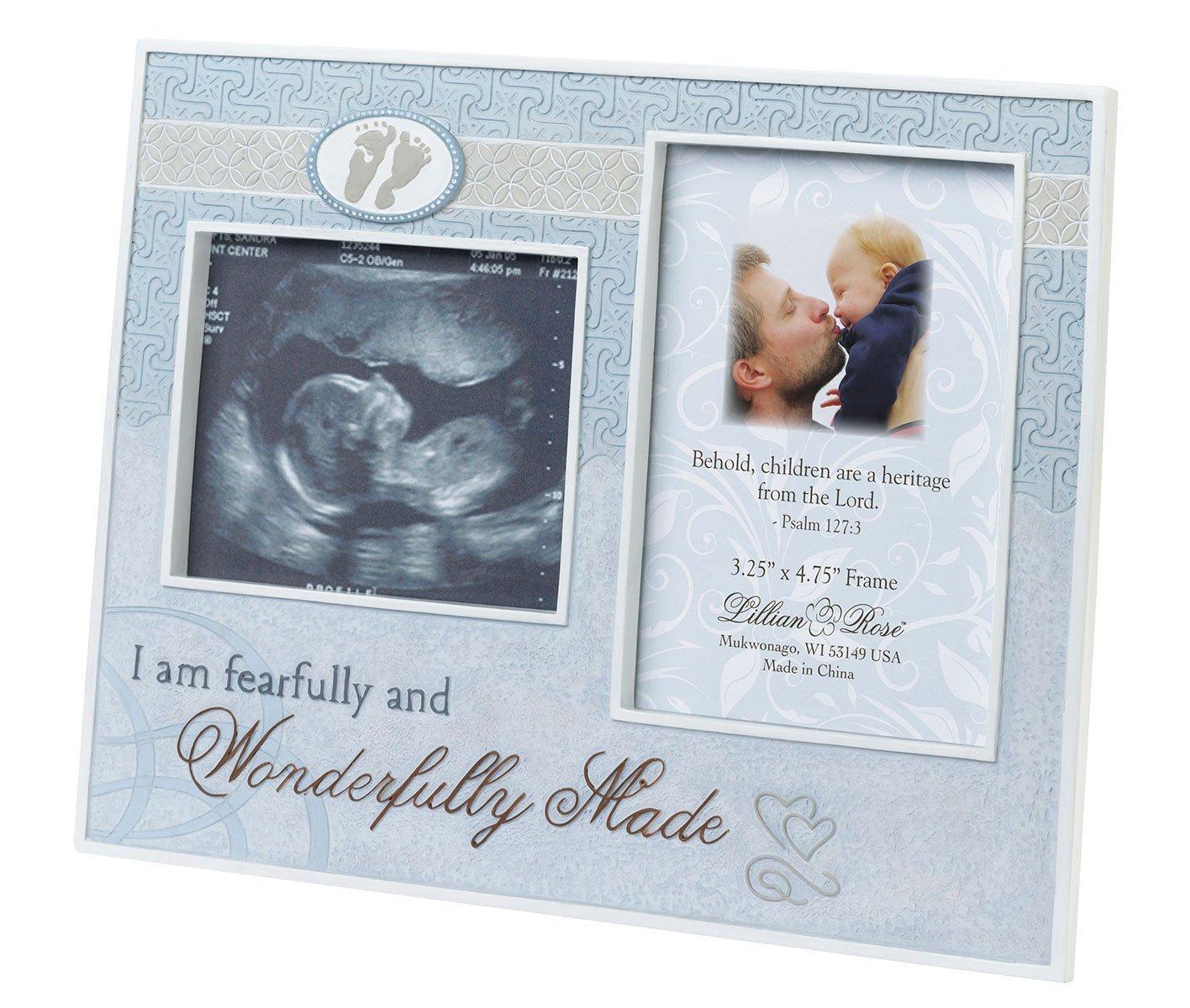 Lillian Rose Wonderfully Made Ultrasound Frame, Blue, 9 x 7