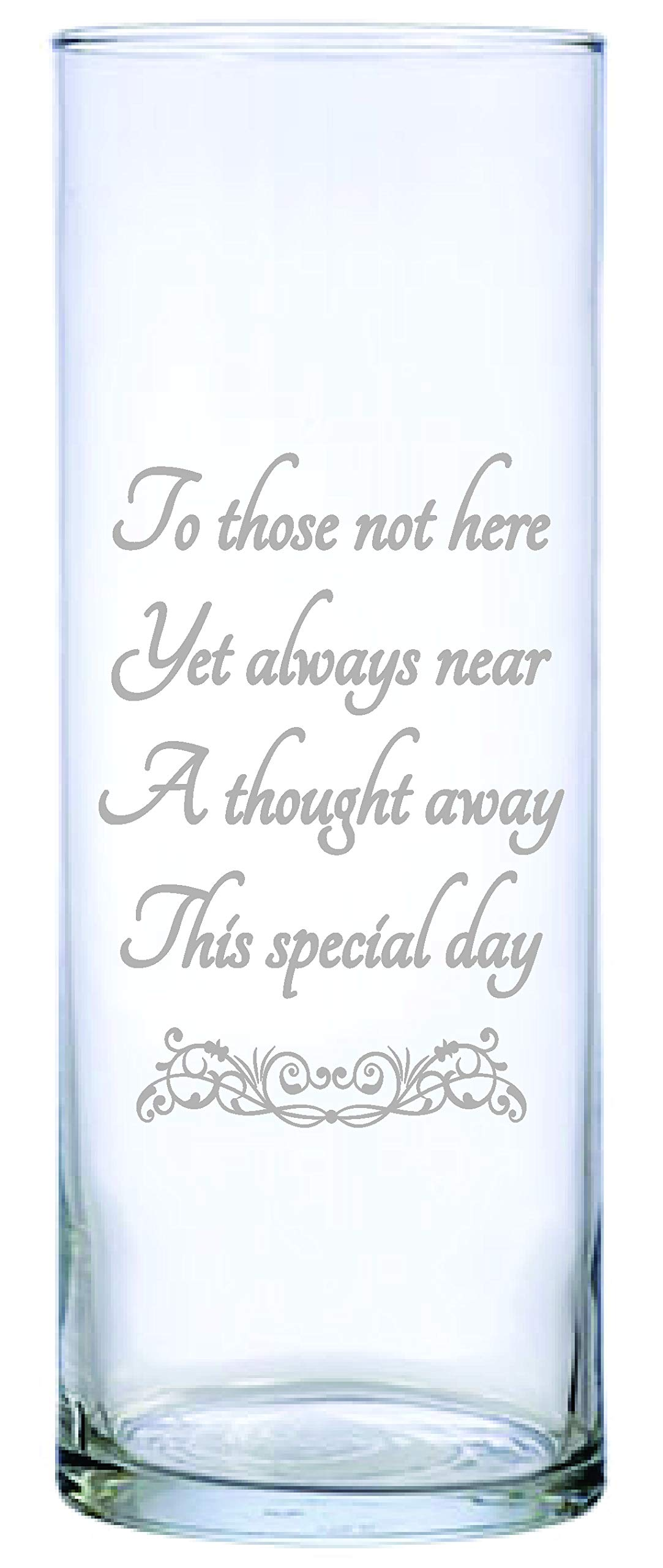 IE Laserware for Those not here, 9'' Memorial Candle Beautifully Etched. Comes Complete with 3'' White Floating Candle, just add Water and Light The Wick