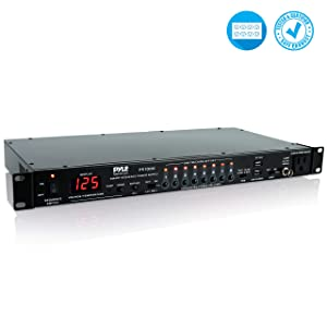 8 Outlet Power Sequencer Conditioner - 2200W Rack Mount Pro Audio Digital Power Supply Controller Regulator w/Voltage Readout, Surge Protector, For Home Theater, Stage/Studio Use - Pyle PS1000