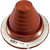 "Dektite #3 Red Silicone Metal Roof Pipe Flashing, High Temp, Round Base, Pipe OD 1/4"" - 5"""