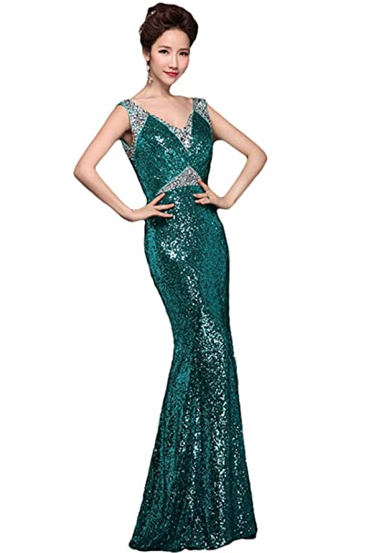 Nueva novia de dama Sexy lentejuelas Fishtail hombro bolsa Plus Hilo Vestido De Novia Vestido De