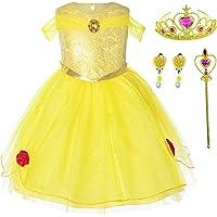 Princess(Snow,Belle,Little Mermaid,Anna,Cinderella,Rapunzel) Costume For Toddler Girls Birthday 2T-6T