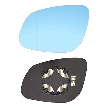 #AM-PECE02-LWABH - Espejo retrovisor izquierdo con placa y calefacción, color azul: Amazon.es: Coche y moto