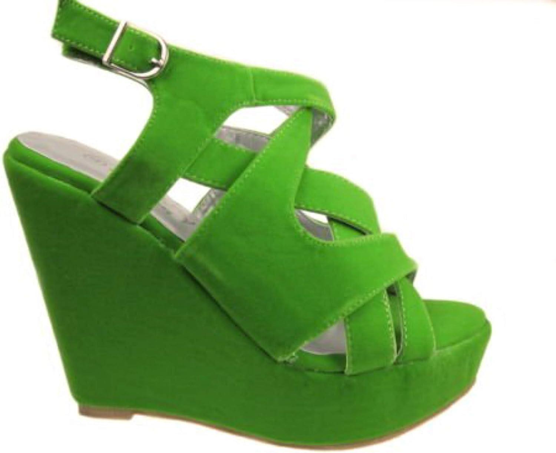 Womens Lace Up Platform Sandals Shoes Sz 3-8