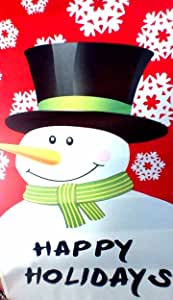 SNOWMAN GARDEN FLAG AND STAND