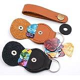 Guitar picks and-pick Holder Case,including 2 Pick Holder Case\10pcs 0.46mm Pick\10pcs 0.71Pick,4pcs 0.91Pick (2 Pick Holder+24Pick)