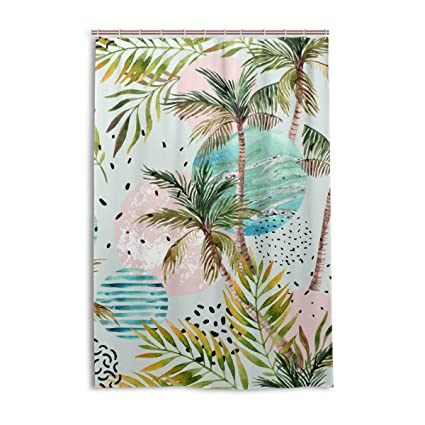 Image Unavailable Not Available For Color Tropical Palm Tree Shower Curtain Bath Curtains Hooks