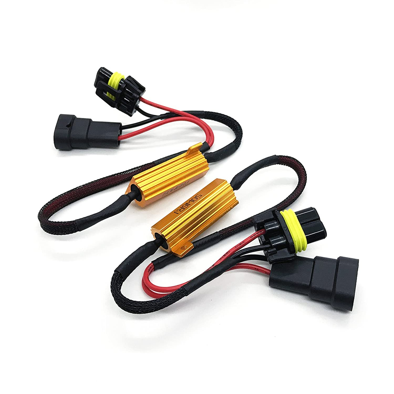 Amazon.com: O-NEX HID LED Resistor Kit H11 (H8, H9) Relay Harness Adapter  Anti Flicker Error Decoder Warning Canceller: Automotive