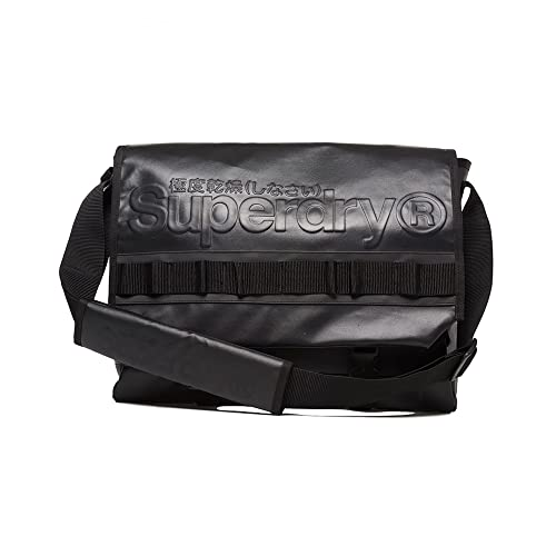 Superdry Merchant Messenger Bag - Black A7Dgm