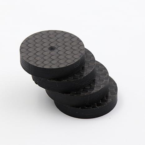 Amazon.com: papri 4pcs 25 x 5 mm Fibra de Carbono Speaker ...