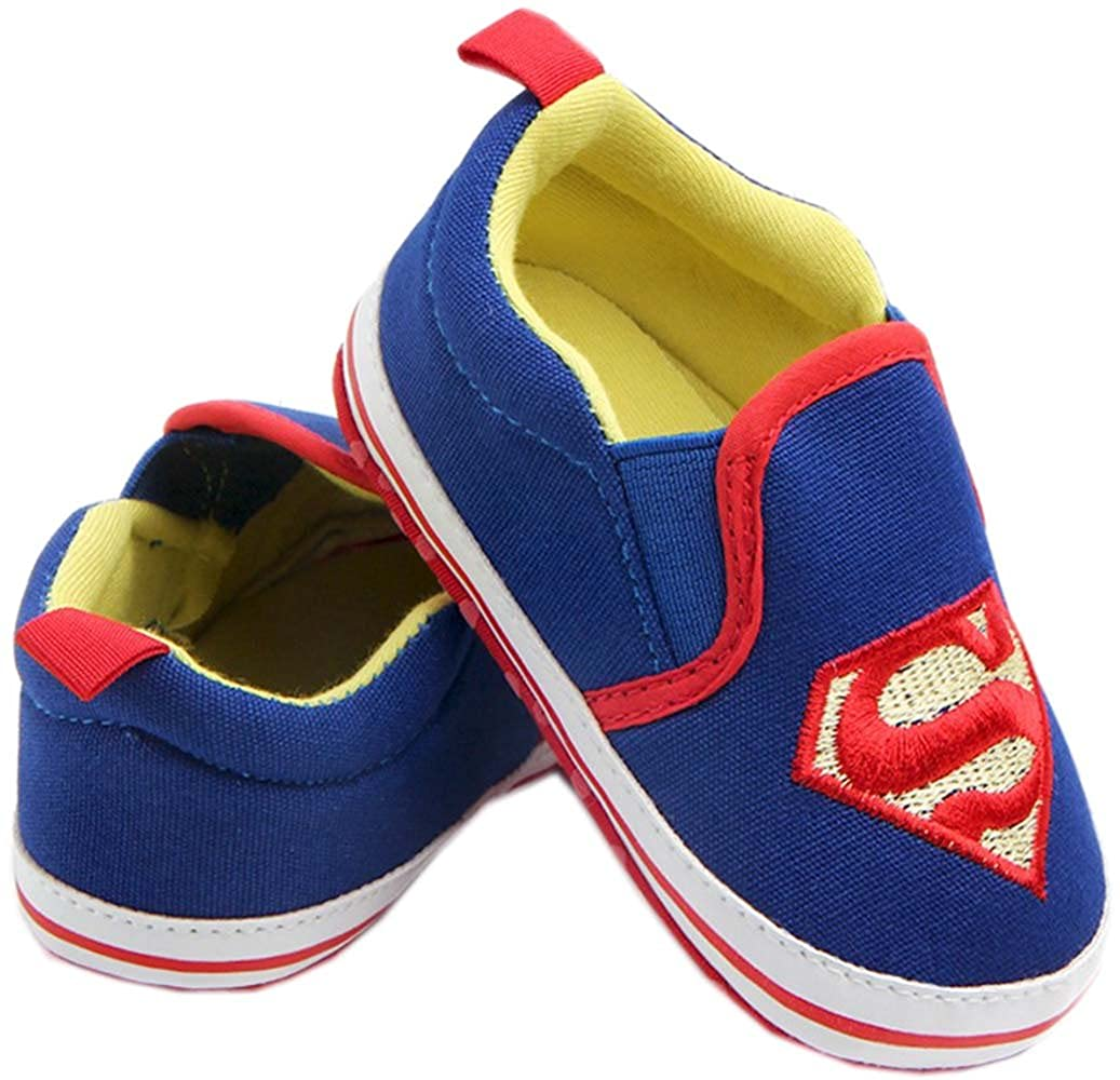 0-1 Year bettyhome Cotton Unisex Baby Newborn Blue Superman Canvas Soft Sole Infant Toddler Prewalker Sneakers