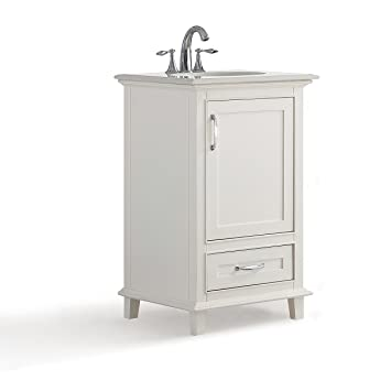 Simpli Home Ariana Inch Bath Vanity With Bombay White Quartz - Bathroom vanity 20 inches wide