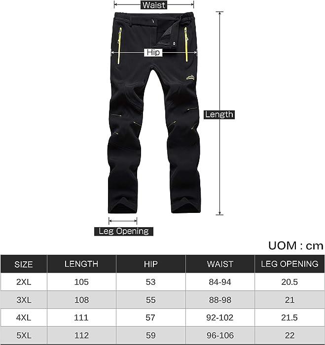 f5f14f20b4c3f Lachi Pantalon de Randonnée Polaire Imperméable pour Automne Hiver Homme   Amazon.fr  Vêtements et accessoires