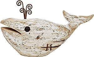 Wooden Whale Decor, Decorative Nautical Whale Rustic Ocean Sea Beach Themed Whale Decoration, Handcrafted Tabletop Nautical Themed Home Decor Bathroom Decor (1)